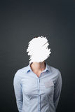 Affare Person Without Face Fotografie Stock