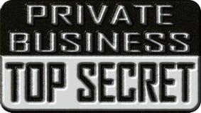 Affare privato top-secret Fotografie Stock