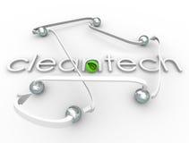 Affare rinnovabile della risorsa energetica di potere di parola di Cleantech Immagine Stock