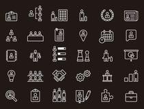 Affare, risorse umane ed icone del lavoratore Fotografia Stock Libera da Diritti