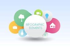 Affare seguente di vettore dell'insegna di infographics Fotografia Stock