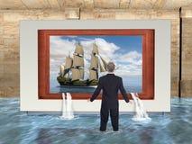 Affare surreale, vendite, vendita, acqua illustrazione di stock