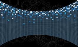 Affare & sviluppo astratti del fondo di tecnologia Fotografie Stock