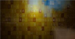 Affare & sviluppo astratti del fondo di tecnologia Immagine Stock