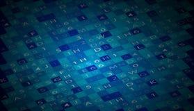 Affare & sviluppo astratti del fondo di tecnologia Fotografia Stock