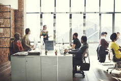 Affare Team Busy Working Talking Concept Fotografie Stock Libere da Diritti