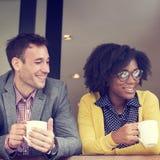 Affare Team Coffee Break Relax Concept Immagine Stock Libera da Diritti