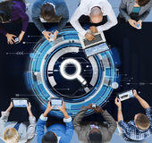 Affare Team Connection Technology Networking Concept Fotografia Stock Libera da Diritti