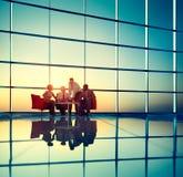 Affare Team Discussion Meeting Corporate Concept Immagine Stock