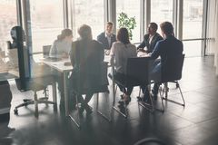 Affare Team Empowerment Success Motivation Concept Fotografie Stock