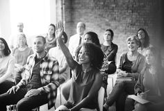 Affare Team Meeting Seminar Training Concept Immagine Stock