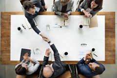 Affare Team Meetng Handshake Applaud Concept Immagini Stock Libere da Diritti