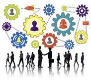 Affare Team Partnership Collaboration Concept della Comunità Fotografia Stock Libera da Diritti