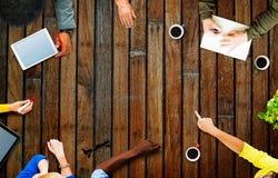 Affare Team Planning Project Meeting Concept Fotografia Stock Libera da Diritti