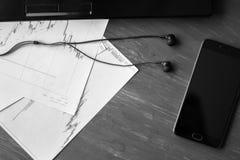 Affare Team Professional Occupation Workplace Concept in bianco e nero fotografie stock
