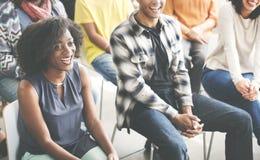 Affare Team Seminar Listening Meeting Concept Immagine Stock Libera da Diritti