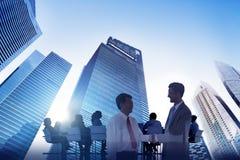 Affare Team Teamwork Meeting Collaboration Concept di Scape della città Fotografia Stock Libera da Diritti