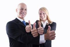 Affare Team With Thumbs Up Immagini Stock Libere da Diritti
