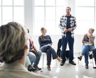 Affare Team Training Listening Meeting Concept Immagini Stock Libere da Diritti