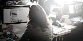 Affare Team Wireless Work Concept di vista aerea di analisi immagine stock libera da diritti
