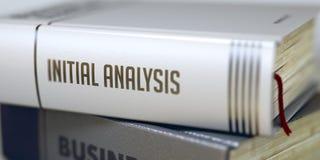 Affare - titolo del libro Analisi iniziale 3d Fotografia Stock
