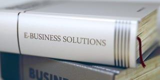 Affare - titolo del libro Soluzioni di e-business 3d Fotografie Stock
