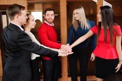 Affare in ufficio Team Stack Hands Support Concept fotografie stock libere da diritti