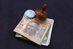 Affare - valuta indiana - affare, economia e Fotografia Stock Libera da Diritti