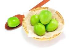 Affe-apfelgrüne Frucht auf lokalisiert Stockfoto