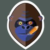 Affe-Aufkleber und Affe-Aufkleber-Designe Lizenzfreies Stockbild
