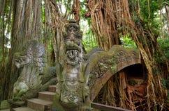 Affe-Brücke Ubud Bali Lizenzfreies Stockfoto
