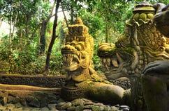 Affe-Brücke Ubud Bali Lizenzfreie Stockfotos