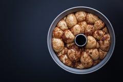Affe-Brot mit Karamell und Zimt Stockfotografie