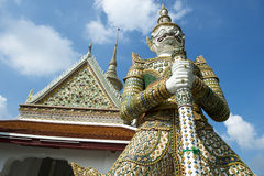 Affe-Dämon-Statue am großartigen Palast Bangkok Thailand Stockbild