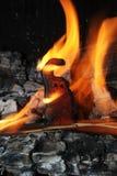 Affe, der auf einem Kamin brennt Lizenzfreie Stockfotografie