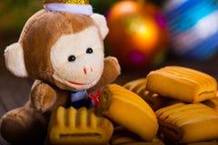 Affe des neuen Jahres Lizenzfreie Stockfotografie