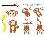 Affe-Entwürfe lizenzfreie abbildung