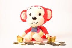 Affe für chinesisches neues Jahr Lunas Lizenzfreie Stockfotos