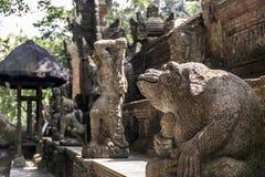 Affe-Forest Temple-Skulpturaffegenitalien Balis Indonesien Ubud Lizenzfreie Stockbilder