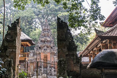 Affe-Forest Temple-Skulptureingang Balis Indonesien Ubud Stockfoto