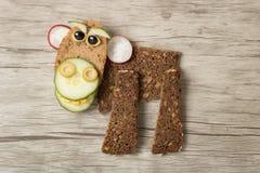 Affe gemacht mit Brot Lizenzfreie Stockfotografie