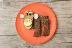Affe gemacht mit Brot Stockfoto