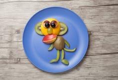 Affe gemacht von den Früchten Stockfotos