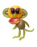Affe gemacht von den frischen Früchten Lizenzfreies Stockfoto
