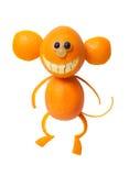 Affe gemacht von der Orange Lizenzfreie Stockfotografie