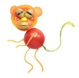 Affe gemacht von der Tomate Stockbilder