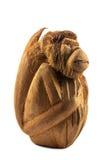 Affe geschnitzt von einer Kokosnuss Stockbild