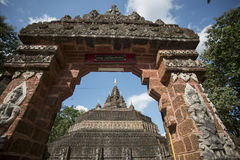 AFFE-HÖHLEN-TEMPEL THAILANDS CHIANG RAI MAE SAI Lizenzfreies Stockfoto