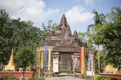 AFFE-HÖHLEN-TEMPEL THAILANDS CHIANG RAI MAE SAI Stockfoto
