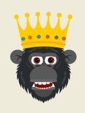 Affe-König stock abbildung